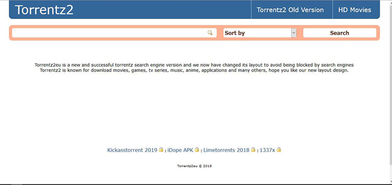 torrent search engine - torrentz2