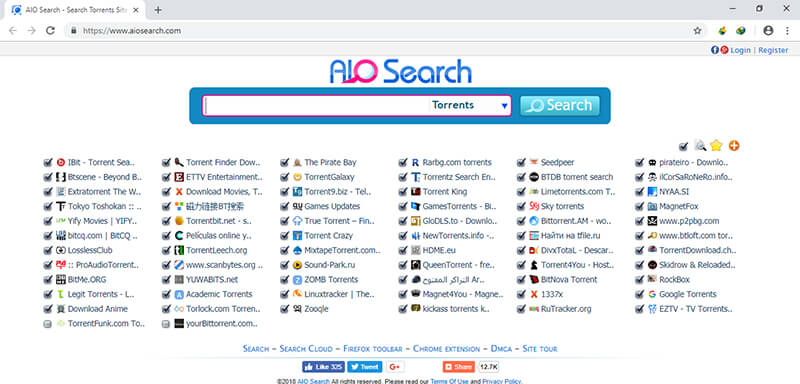 torrent search engine - aio search