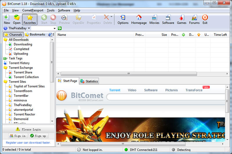 fastest torrent downloader - bitcomet