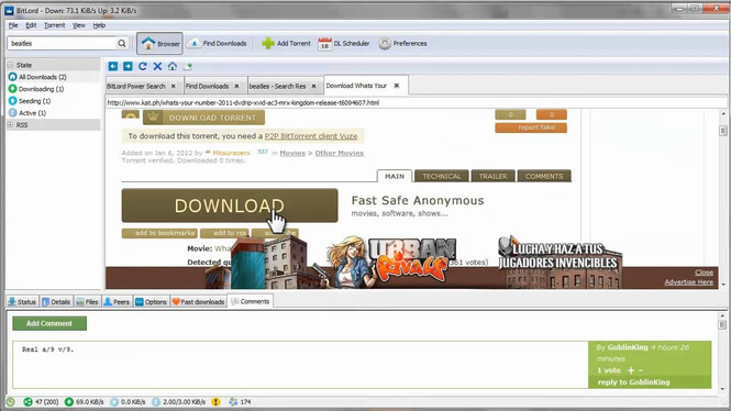 fastest torrent downloader - bitlord