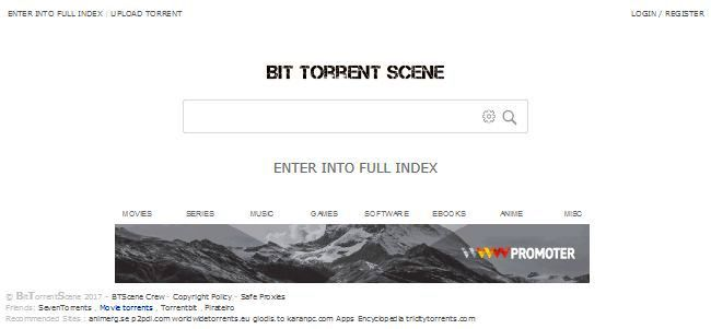 most popular torrent sites - bt scene