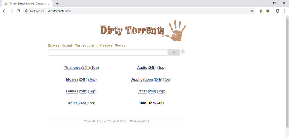 music torrenting sites - dirty torrent