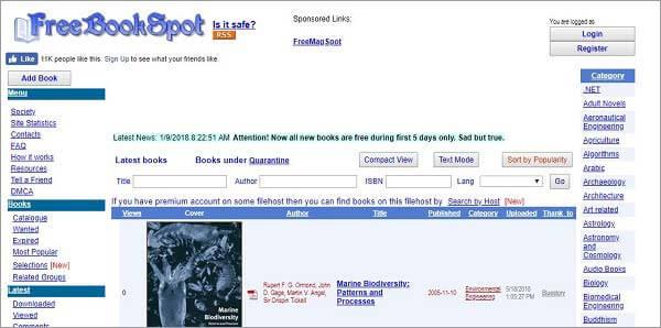 top free ebook torrents - FreeBookSpot