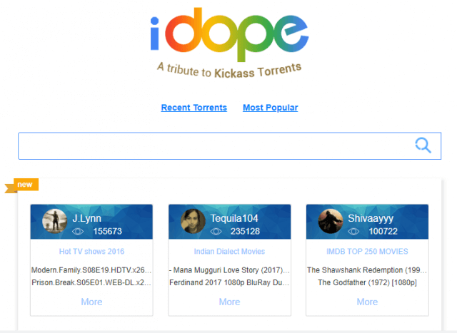 music torrenting sites - idope
