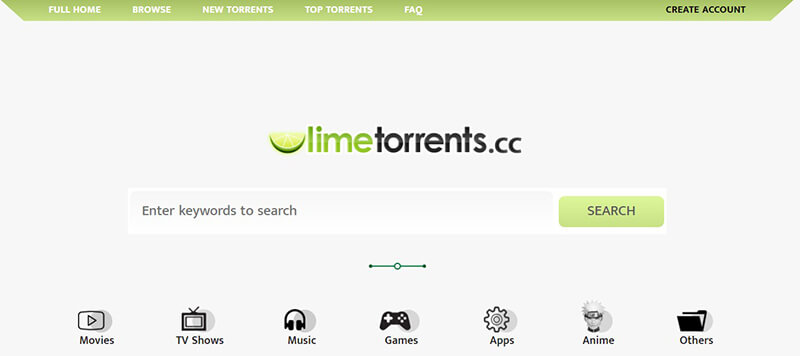 safe torrent websites - lime torrent