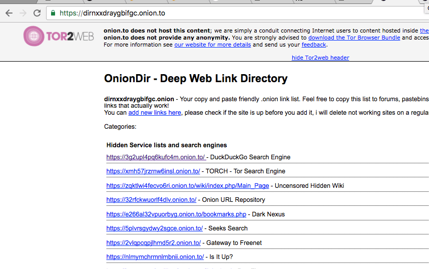 dark web search engine with tor - url repository