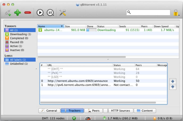 online torrent downloader - qbittorrent