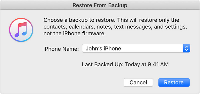 select a package to restore whatsapp backup