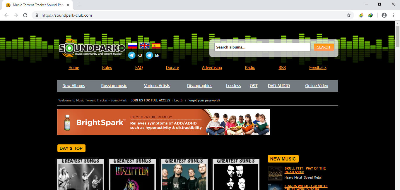 music torrenting sites - soundpark