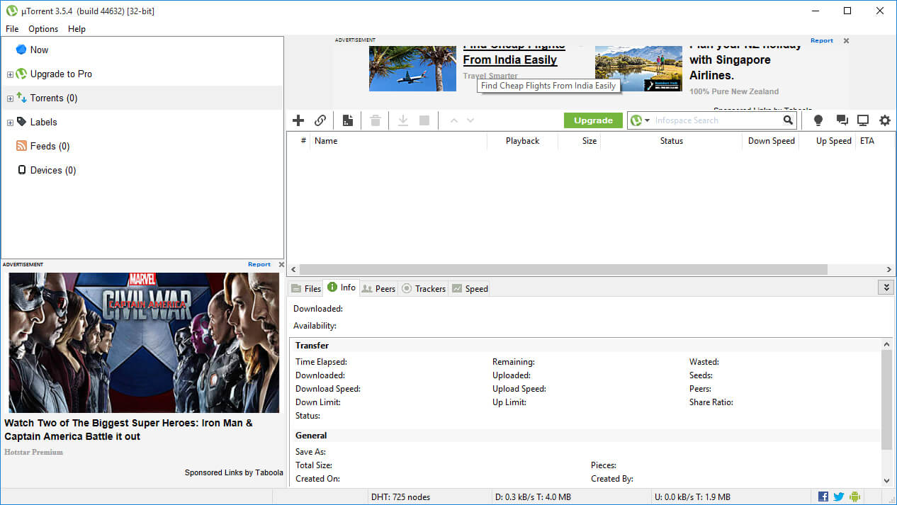 torrent movie download using downloader software