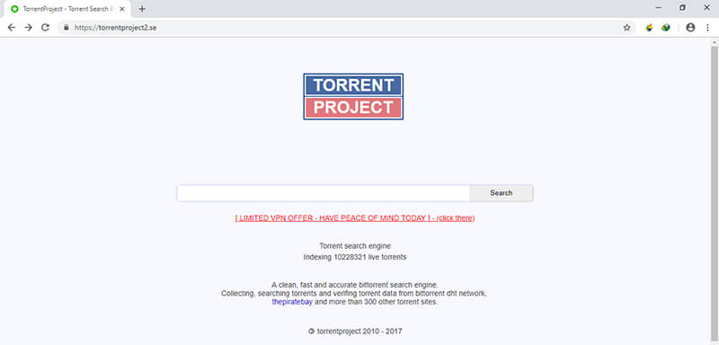 bittorrent search engine - torrent project