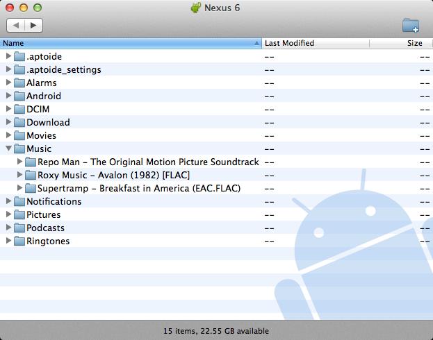 如何将文件从mac传输到android-运行该软件