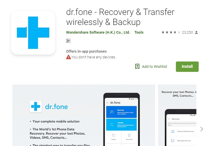 how to transfer files from pc to android-dr.fone - Data Recoveryy and Transfer Wirelessly & Backup
