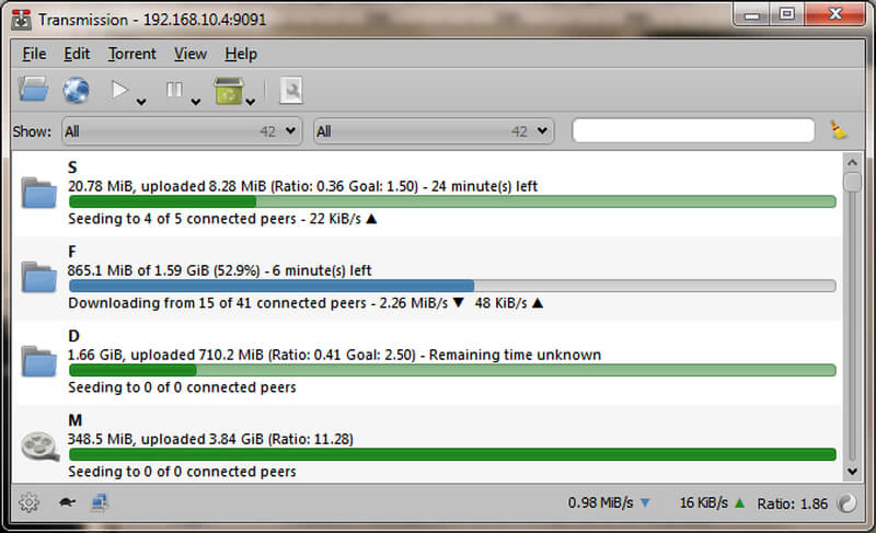 fastest torrent downloader - transmissionbt