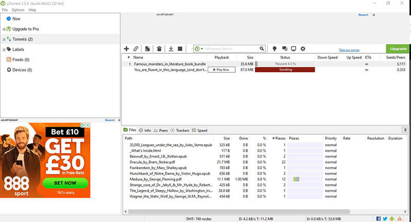 add torrent tracker to torrent client - click trackers