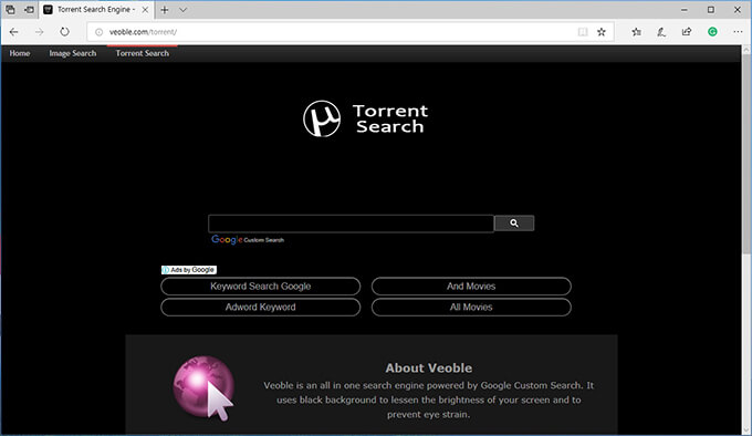 bittorrent search engine - veoble