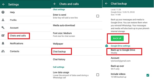 backup WhatsApp photos on android