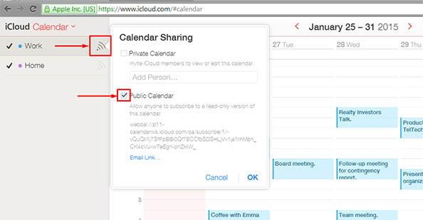 backup icloud calendars - step 1