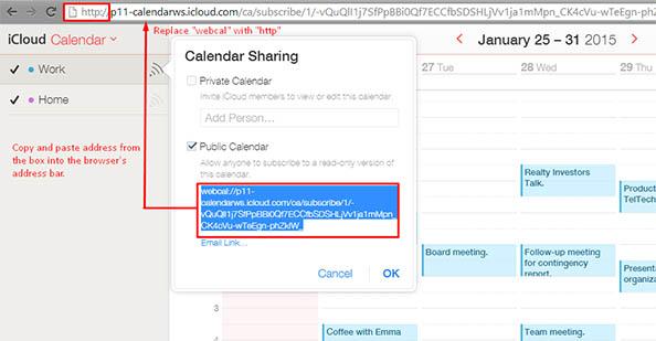 backup icloud calendars - step 2