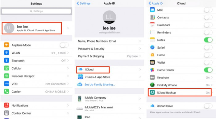 apple way to backup whatsapp