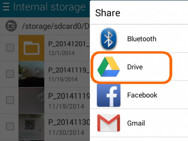backup samsung photos to google drive