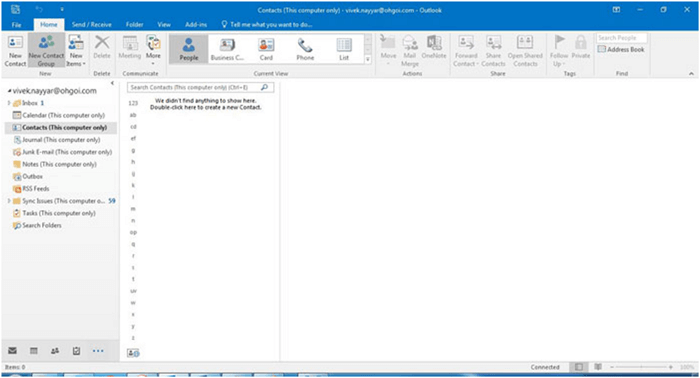 manage contacts in outlook