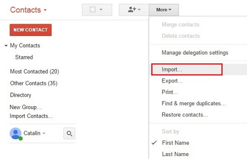 import icloud contacts to gmail