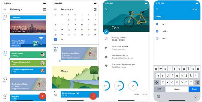 iphone calendar app - google calendar