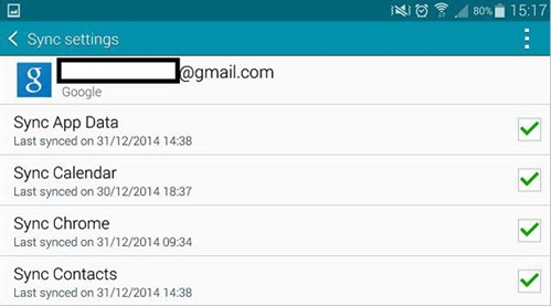 transfert de LG vers Samsung en utilisant gmail
