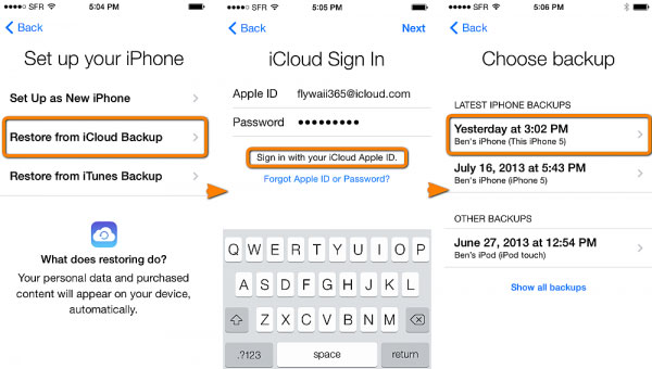 restore iphone contacts from icloud backup