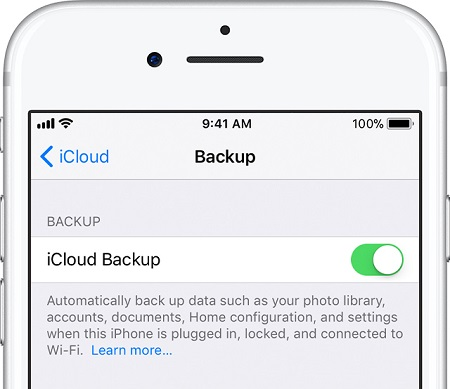 backup iphone xs to icloud