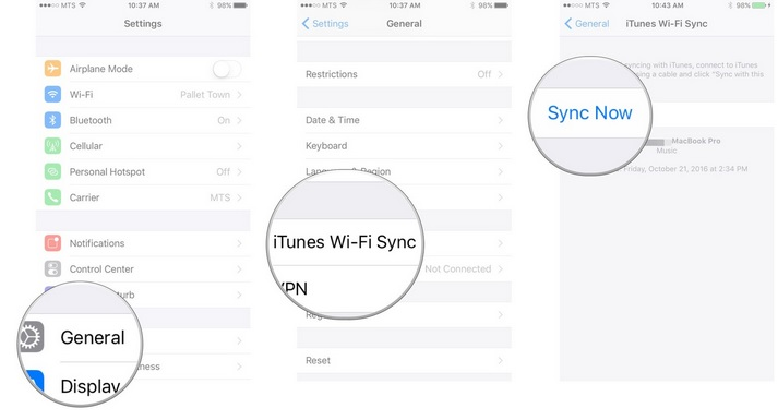 sync iphone to ipad using itunes without computer