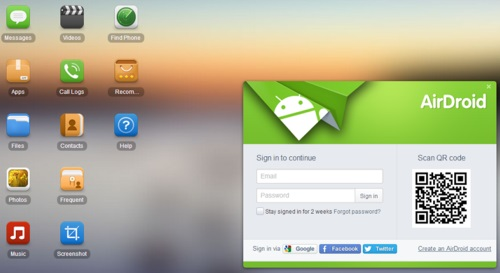access airdroid on pc