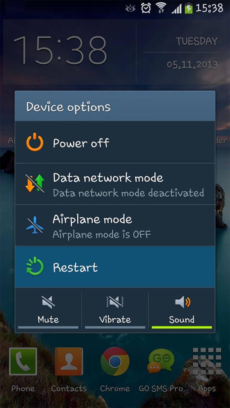 Android-Gerät neustarten