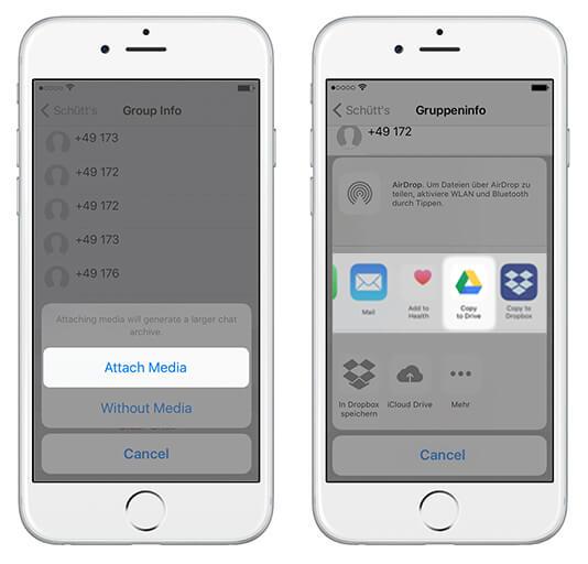 whatsapp auf google drive übertragen – in google drive speichern