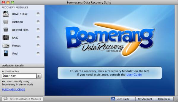 recuva mac - Boomerang