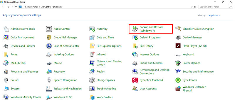 recover emptied recycle bin - backup and restore