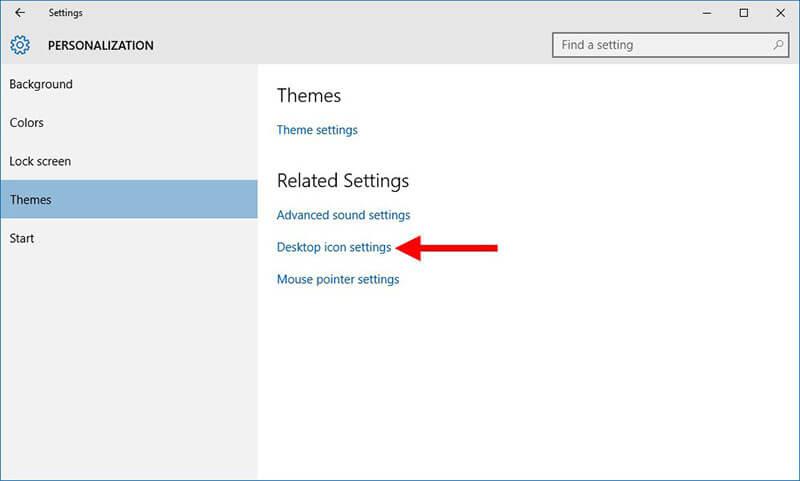 recycle bin in windows 10 - desktop icon properties