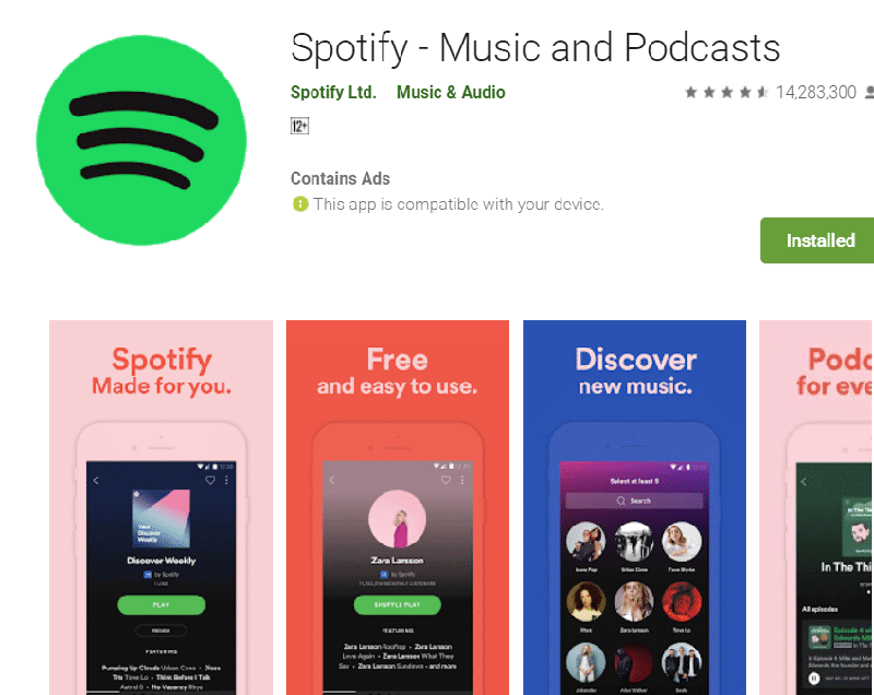 spotify stopping - reinstall app