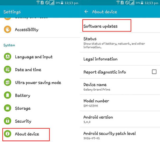 Telefon-App stürzt ab - firmware aktualisieren