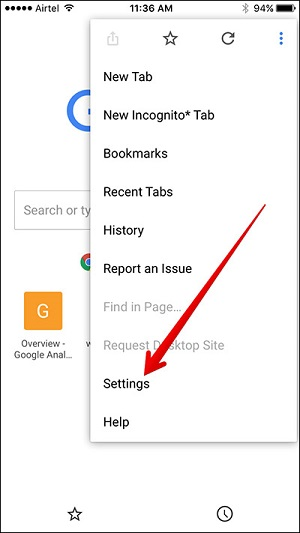 clear search history from iphone search engine