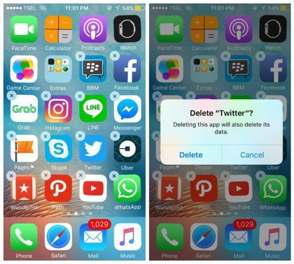 delete apps on iphone 6 one at a time