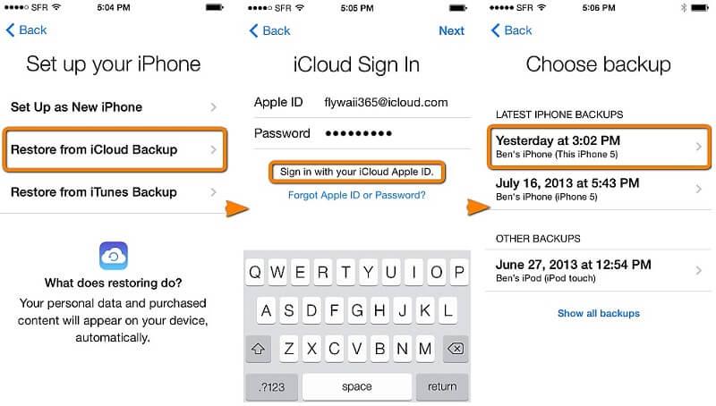 iPhone 5S auf Werkseinstellungen zurücksetzen - Gerät aufsetzen