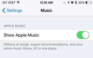 activa y desactiva apple music