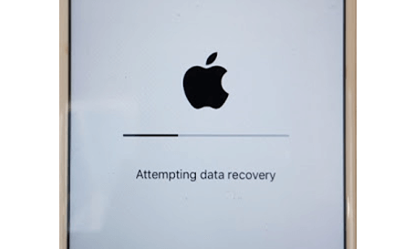 stuck on attempting data recovery