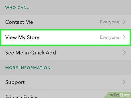 delete snapchat history - View My Story