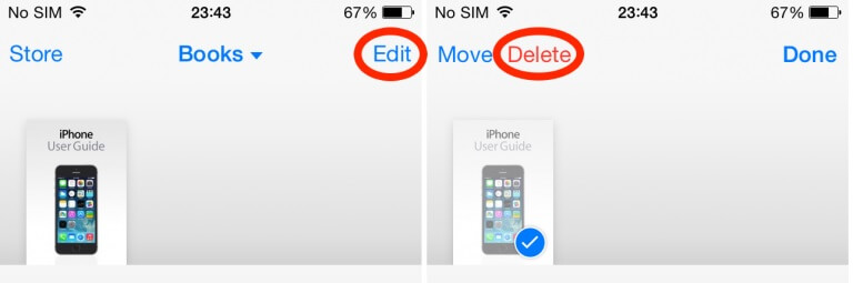 free up more notes space on the iPhone - delete files