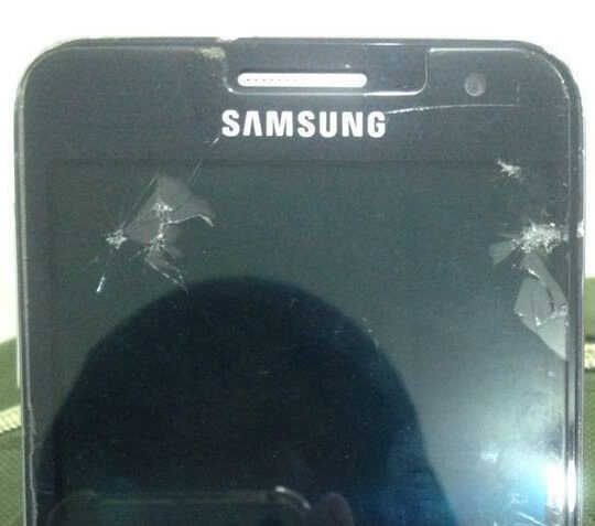 prevent hurt by cracked screen