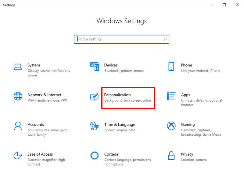 remove recycle bin from desktop on win 10 - select themes