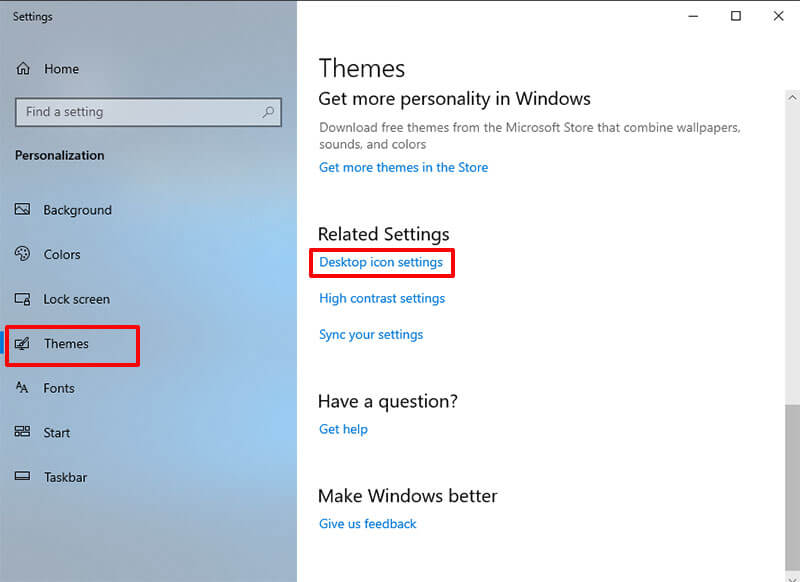 remove recycle bin from desktop on win 10 - related settings